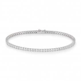 White Gold Diamond Line Bracelet 3.50ct TDW